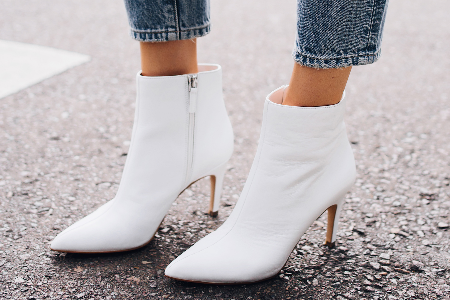 Fashion Jackson White Heeled Ankle Booties Fashion Jackson San Diego Fashion Blogger Street Style