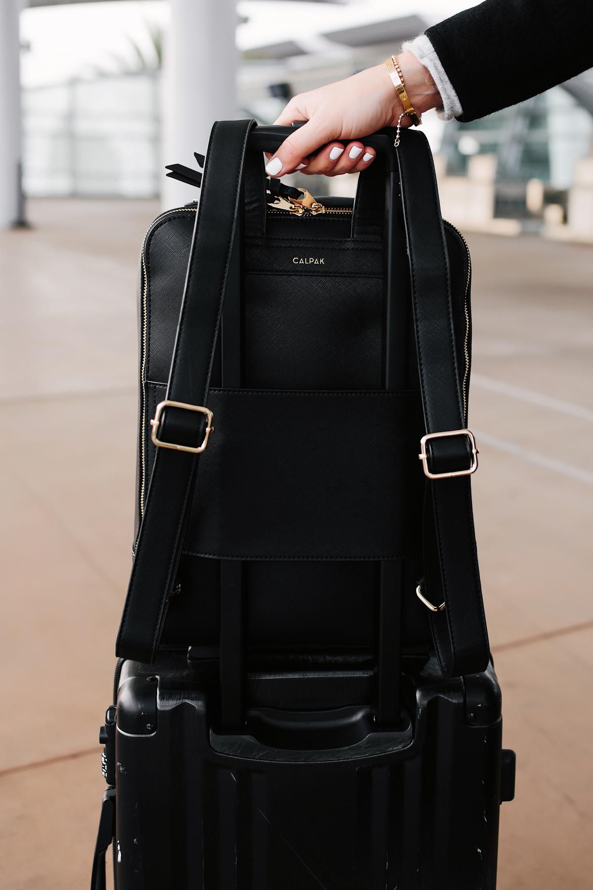 Calpak Kaya Black Backpack Airport Style