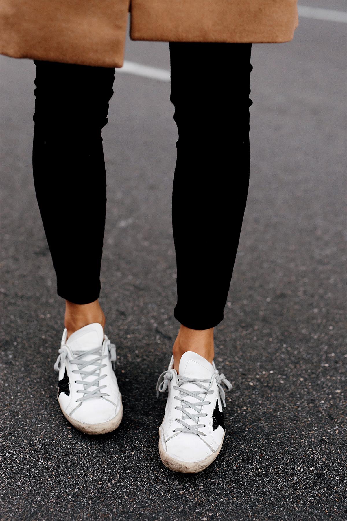 Fashion Jackson Wearing Black Skinny Jeans Golden Goose Deluxe Sneakers