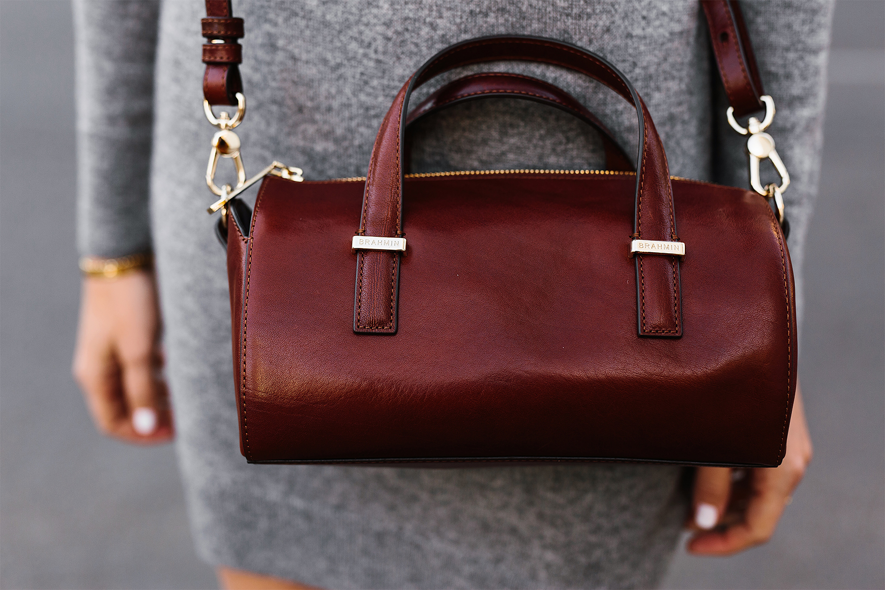 Brahmin Cognac Claire Handbag