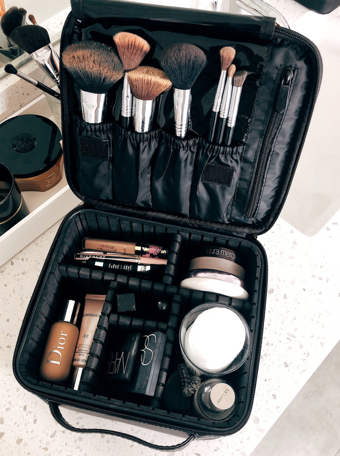 Black Cosmetic Travel Case