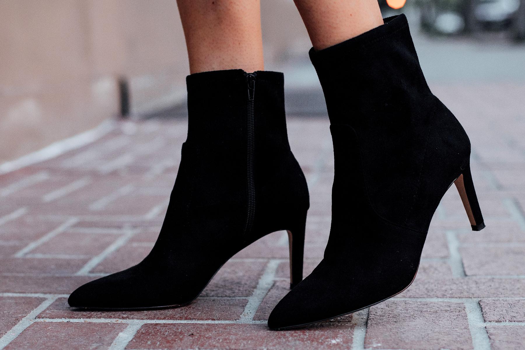 Fashion Jackson Wearing Ann Taylor Black Heeled Booties