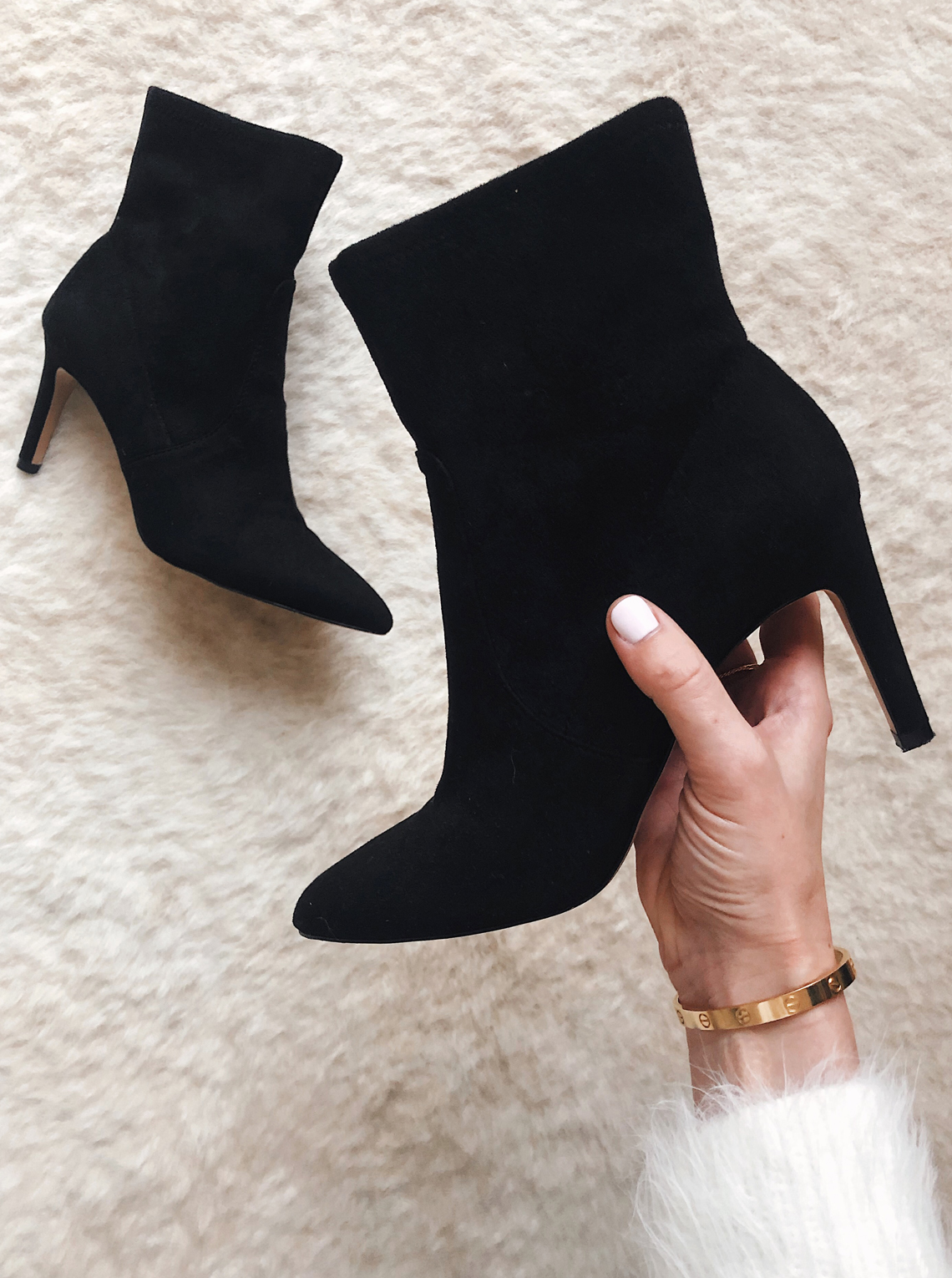 Ann Taylor Black Booties