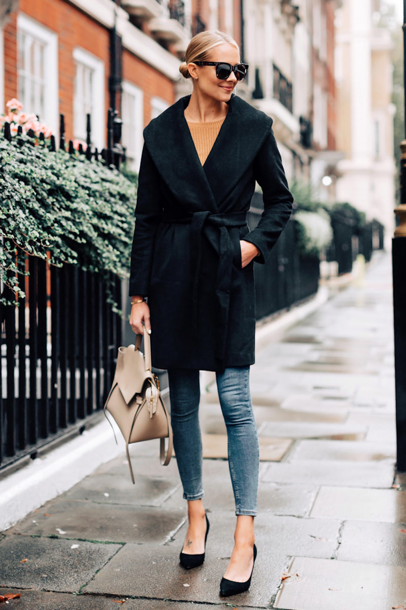 Fashion-Jackson-Ann-Taylor-Black-Wrap-Coat-Camel-Sweater-Denim-Skinny-Jeans-Outfit-Black-Pumps