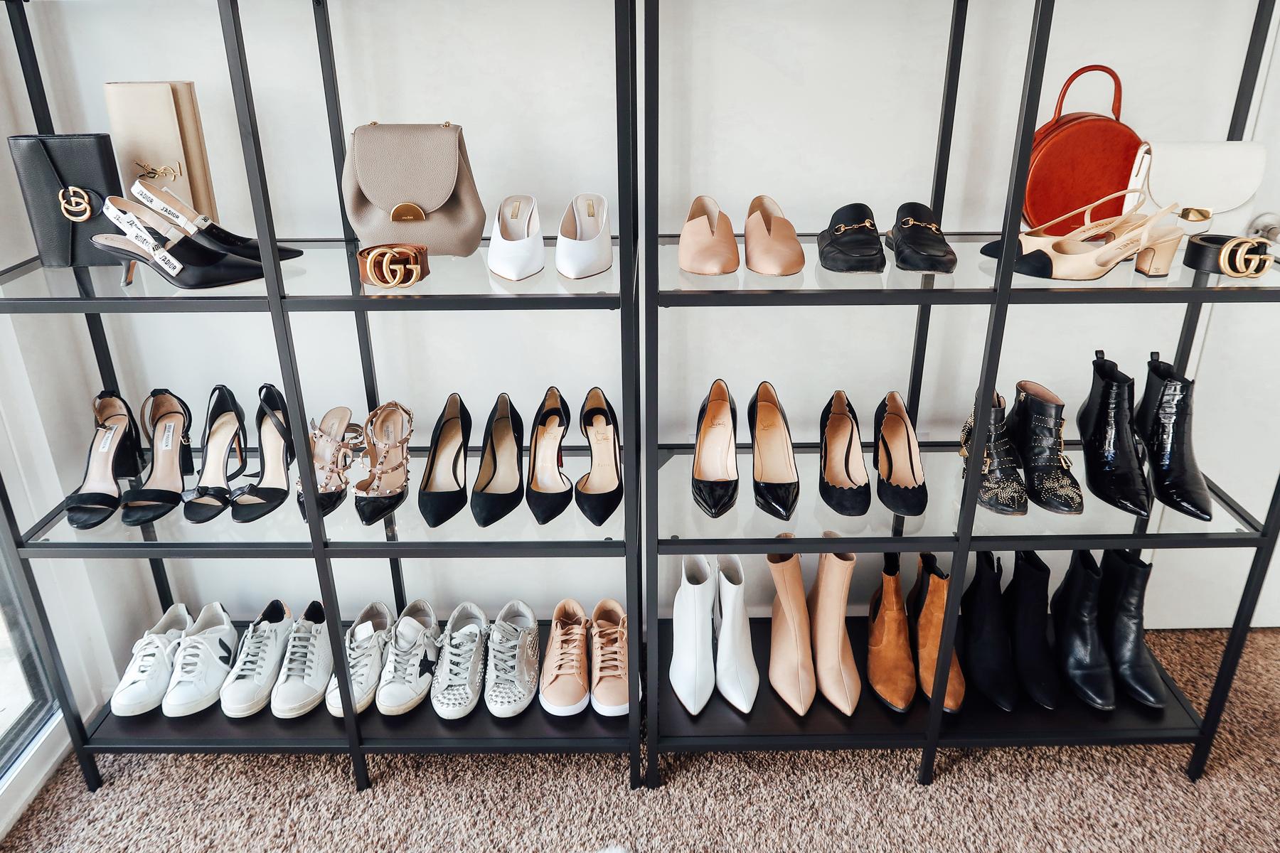 Fashion Jackson Handbag Shoe Collection Closet Office Shelf Storage