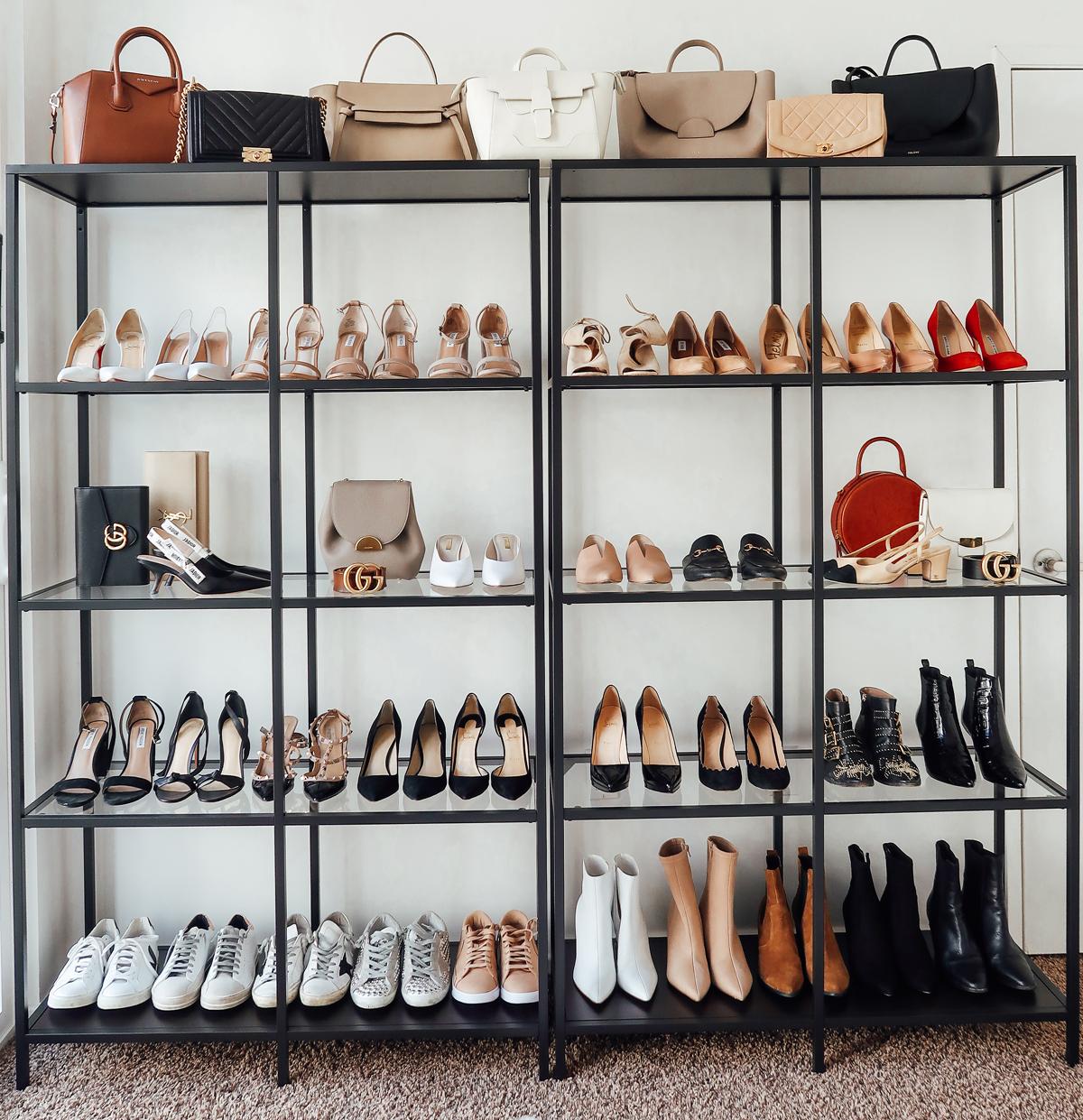 70cadc8cc4a Fashion Jackson Handbag Shoe Collection Closet Office Shelf Storage