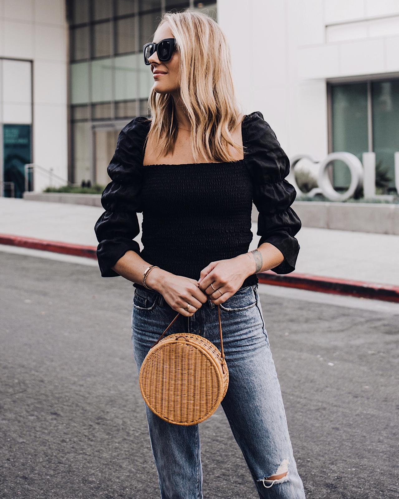 Fashion Jackson Holding Circle Basket Bag