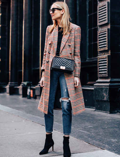 A Stylish Way to Wear a Plaid Coat for Winter
