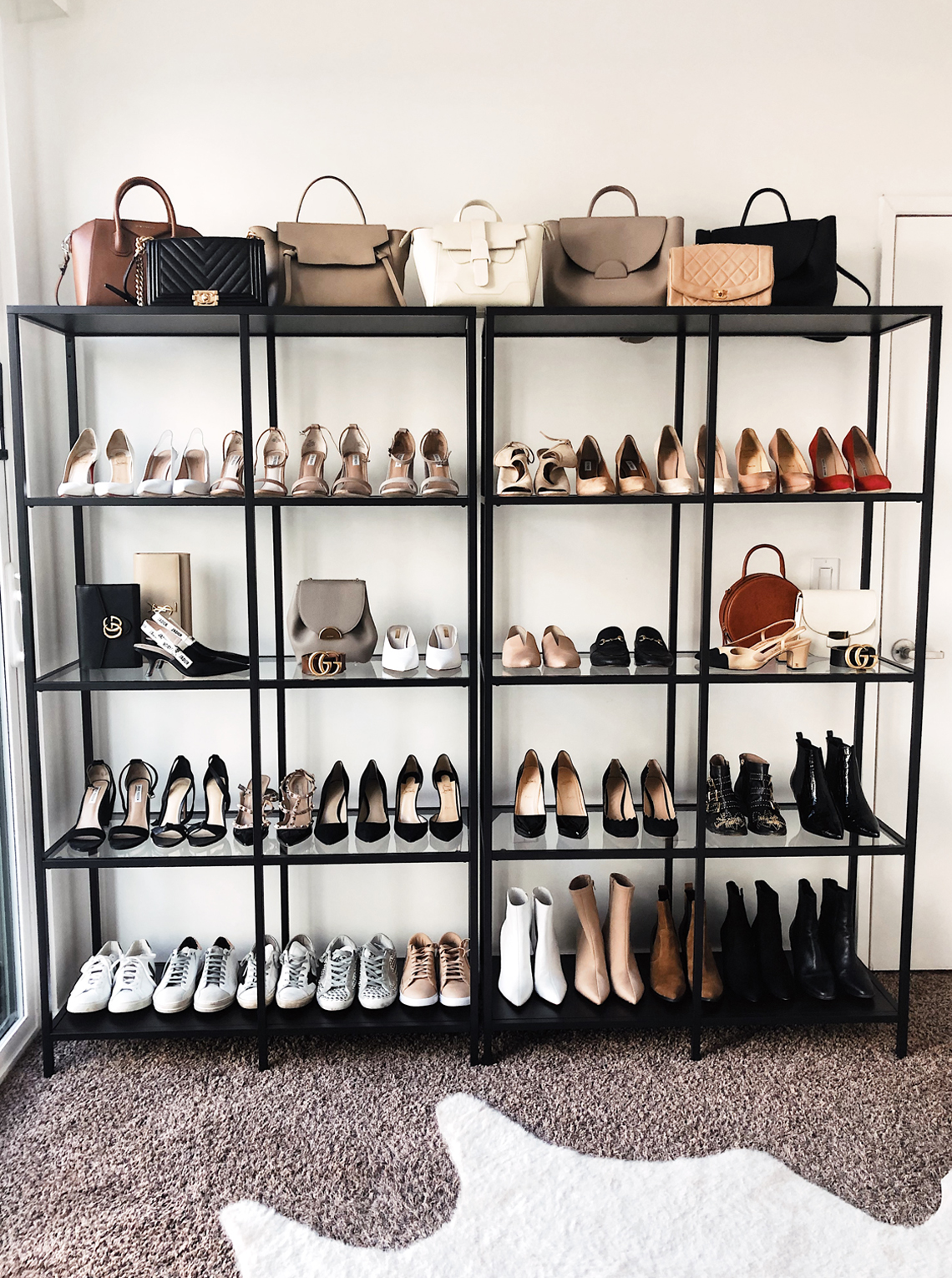 fashion jackson office shoe & handbag closet