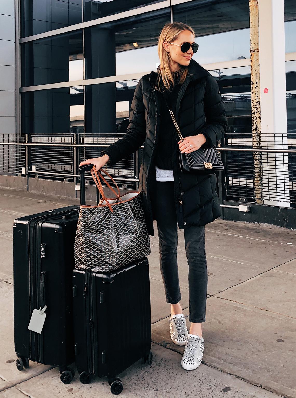 winter travel look