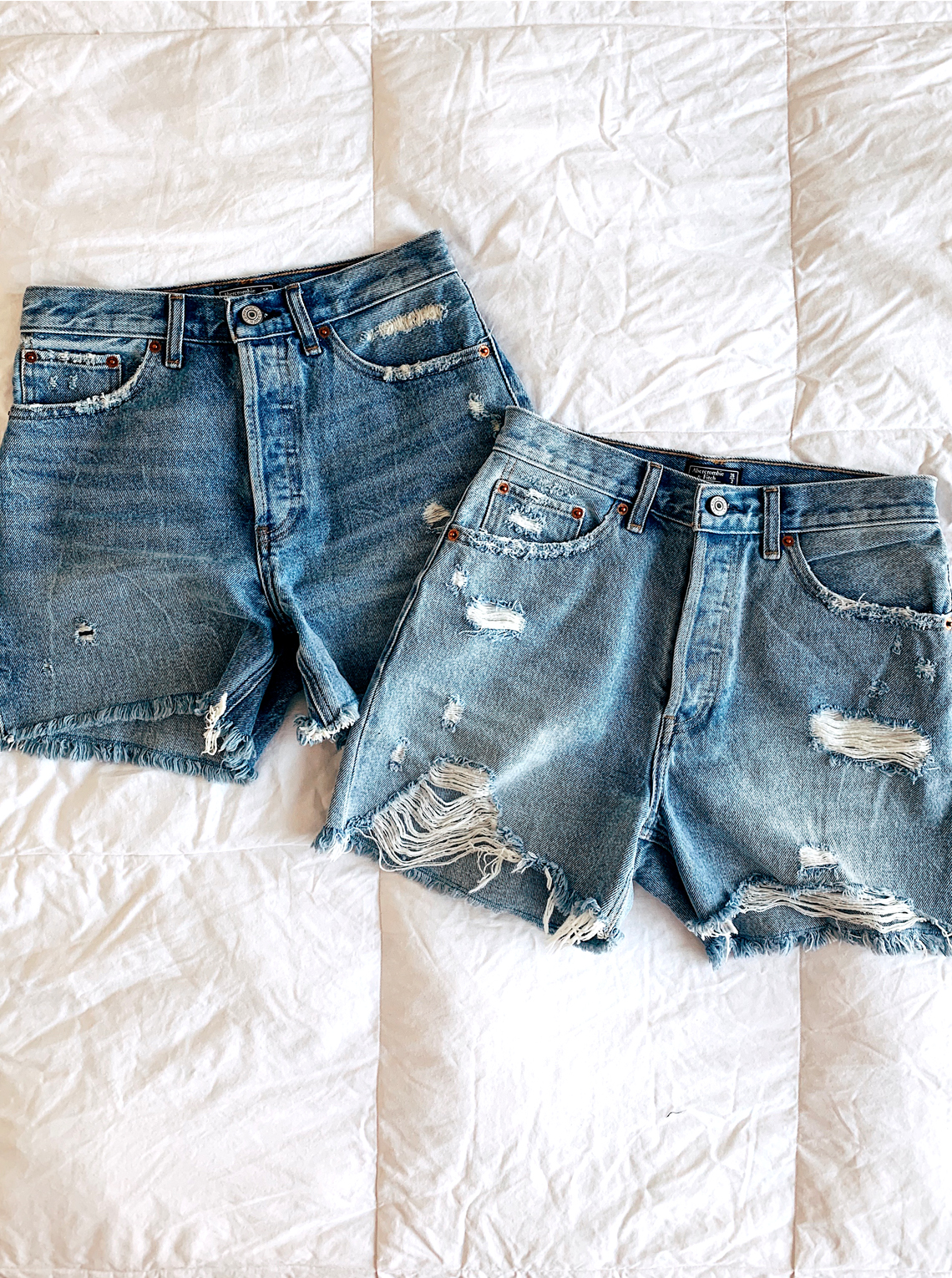 Abercrombie High Waisted Denim Shorts