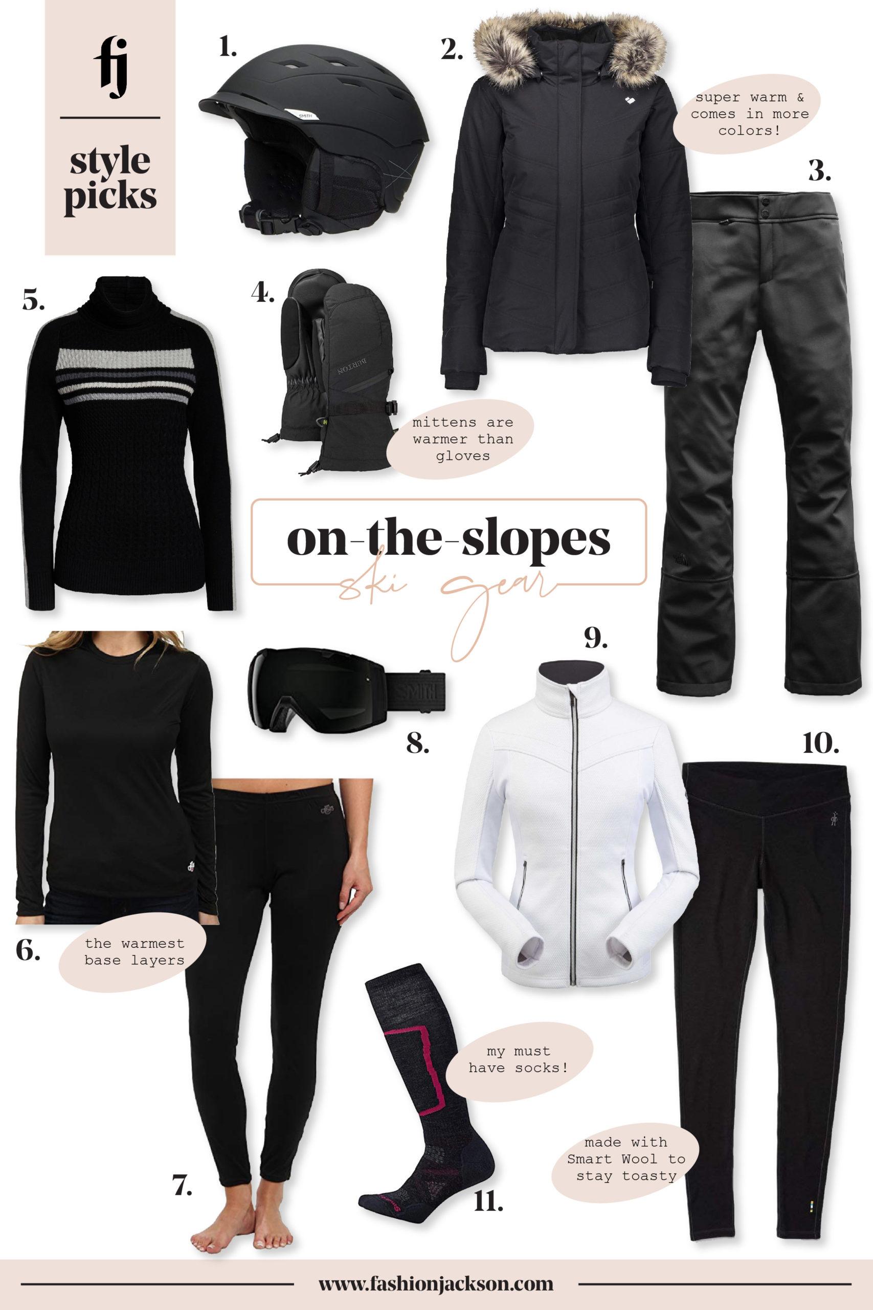 fashion jackson ski gear collage
