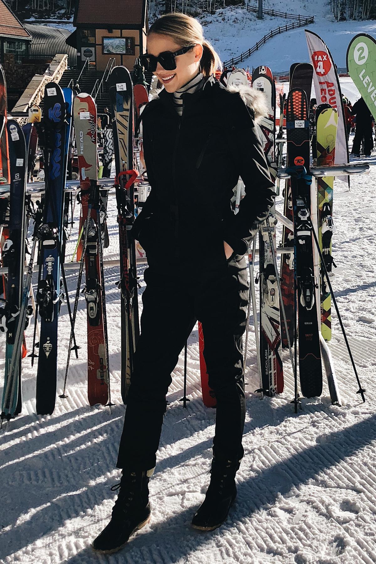 Fashion Jackson Wearing Topshop Ski Snowsuit Telluride