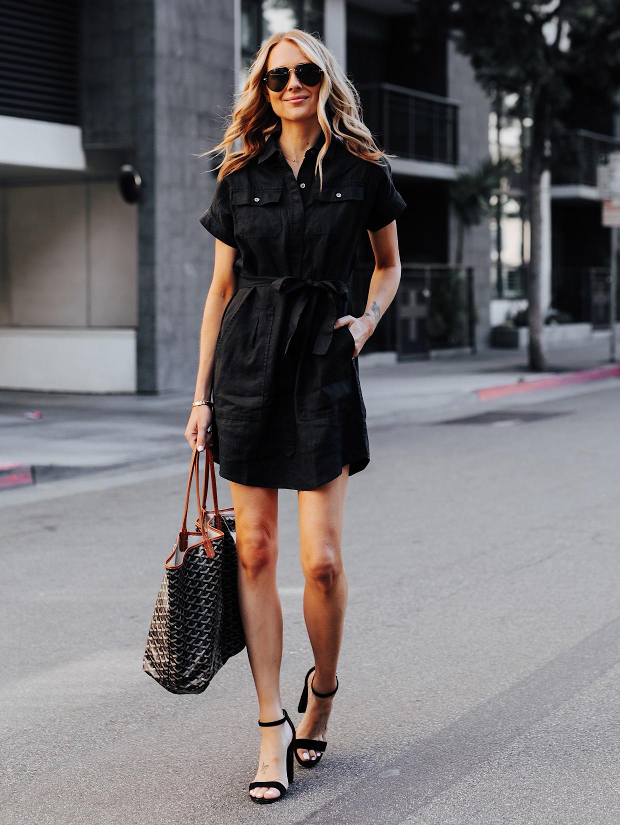 Fashion Jackson Wearing Black Short Sleeve Shirt Dress Featured Image