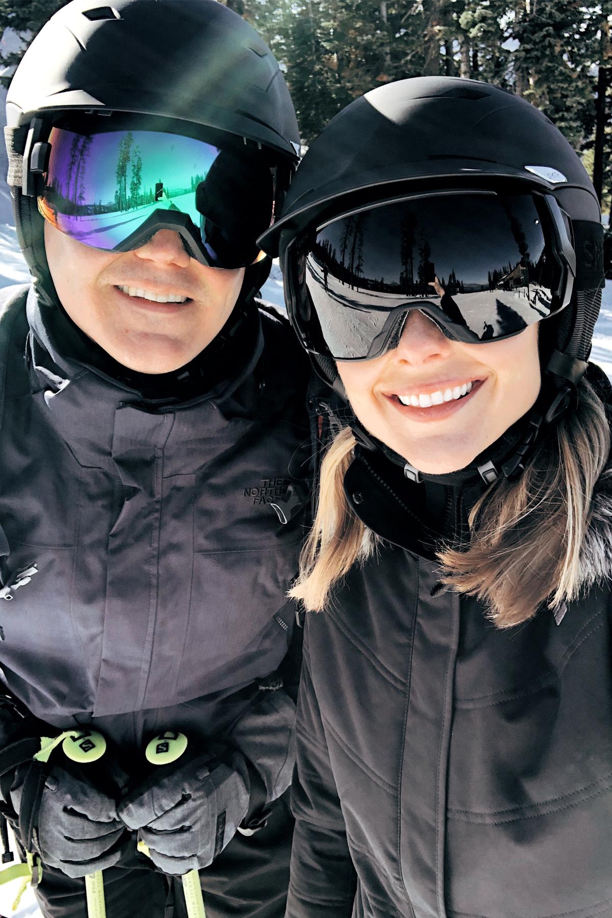 Fashion Jackson Wearing Smith Ski Helmet Smith Ski Goggles