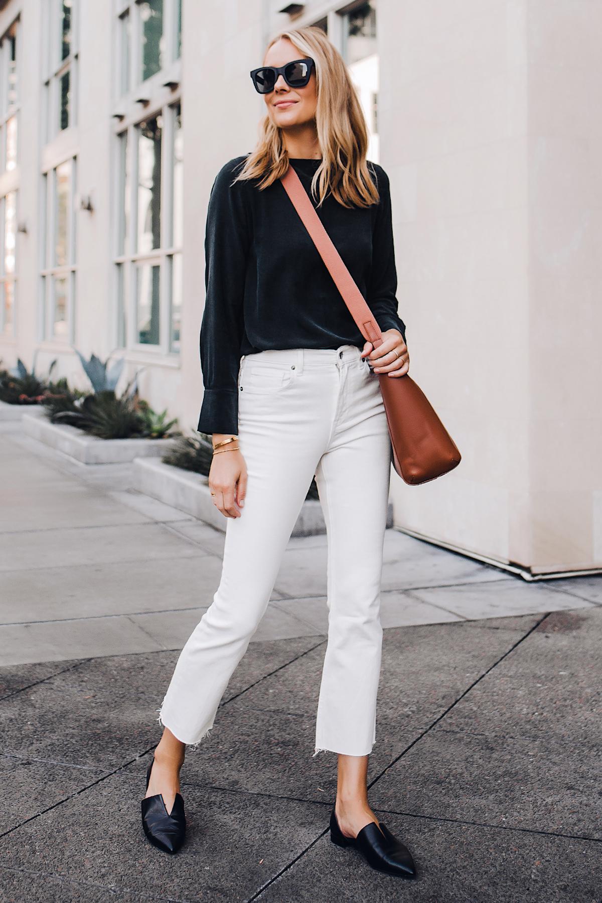Fashion-Jackson-Everlane-Black-Silk-Long-Sleeve-Top-Everlane-White-Cropped-Jeans-Everlane-Brown-Messenger-Bag-Vince-Black-Flats