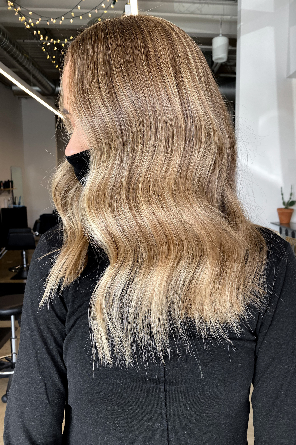 Fashion Jackson Long Bronde Hair Beachy Waves After Picture 1