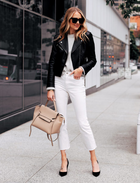 16 Ways to Wear White Cropped Jeans this Spring