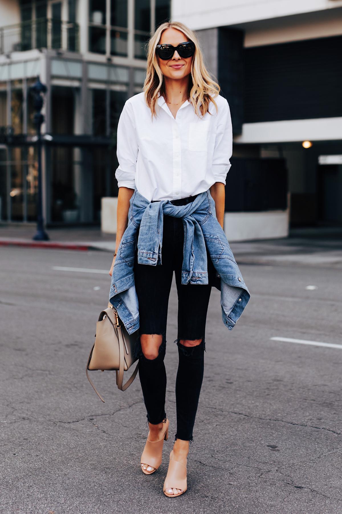 An Effortless Way to Wear a White Button Down Shirt   Fashion Jackson