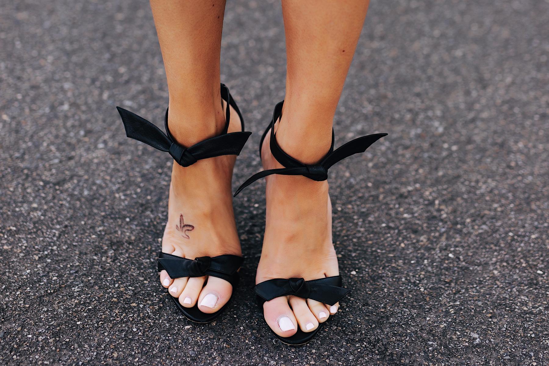Fashion Jackson Wearing Alexandre Birman Clarita Sandals Black