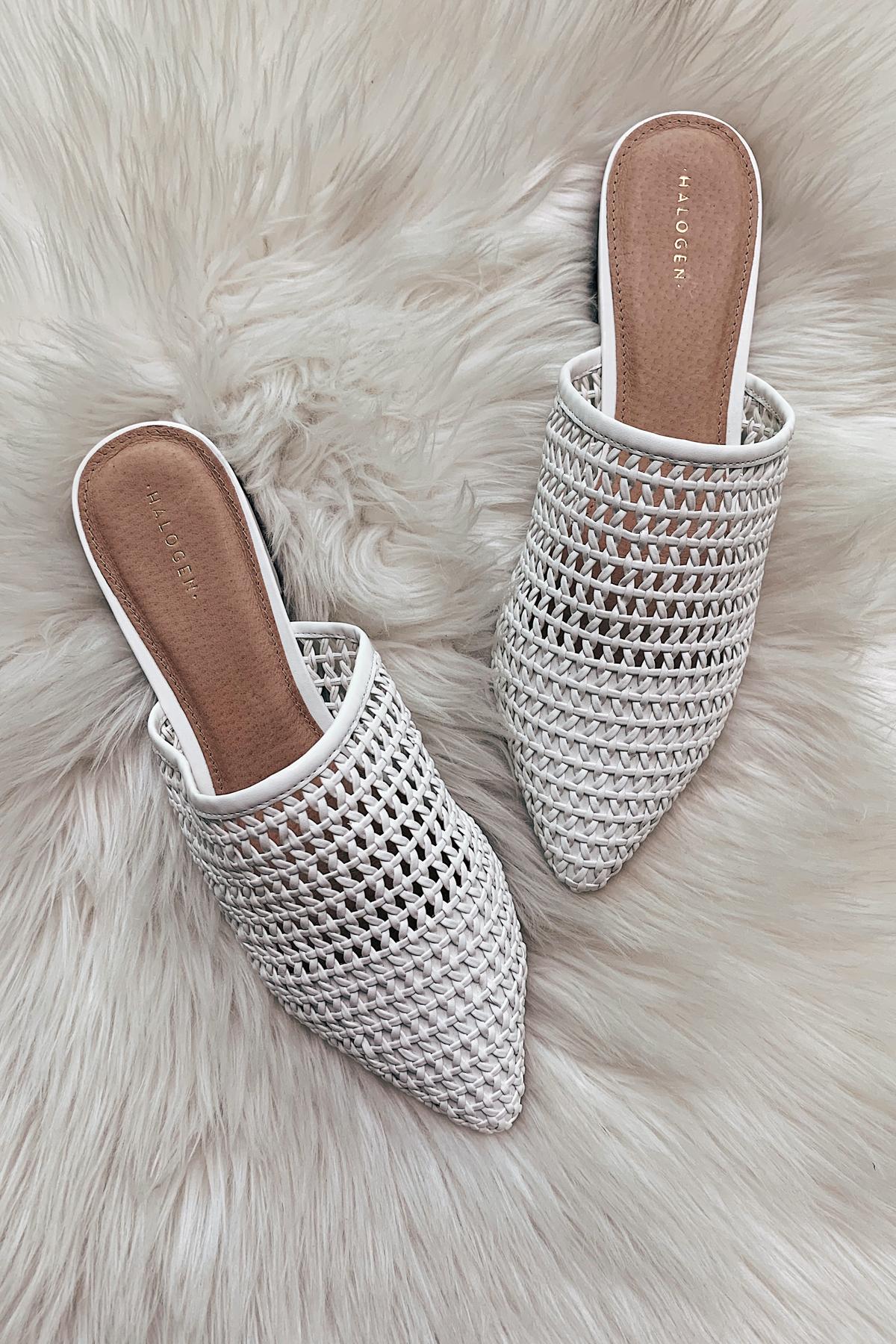 Fashion Jackson White Woven Mules