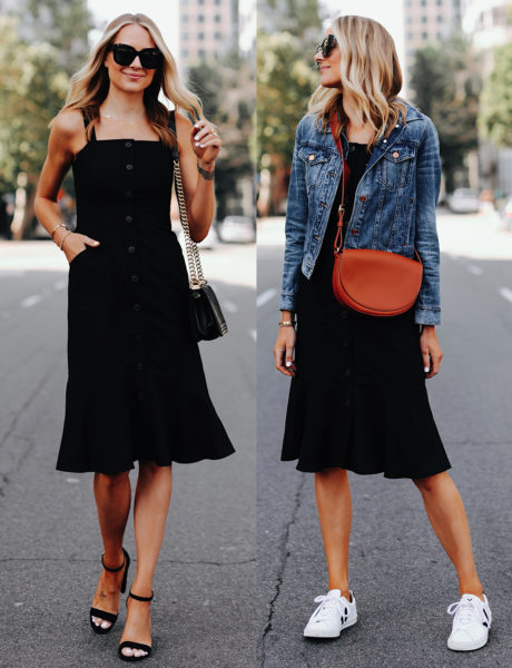 2 Stylish Ways to Wear A Black Summer Dress