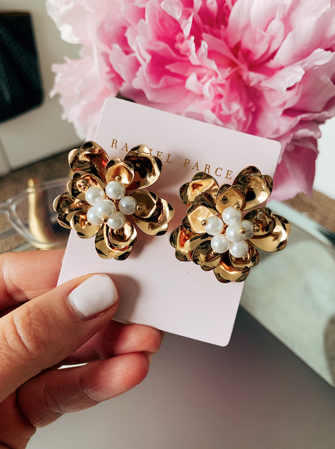 Rachel Parcell Floral Stud Earrings