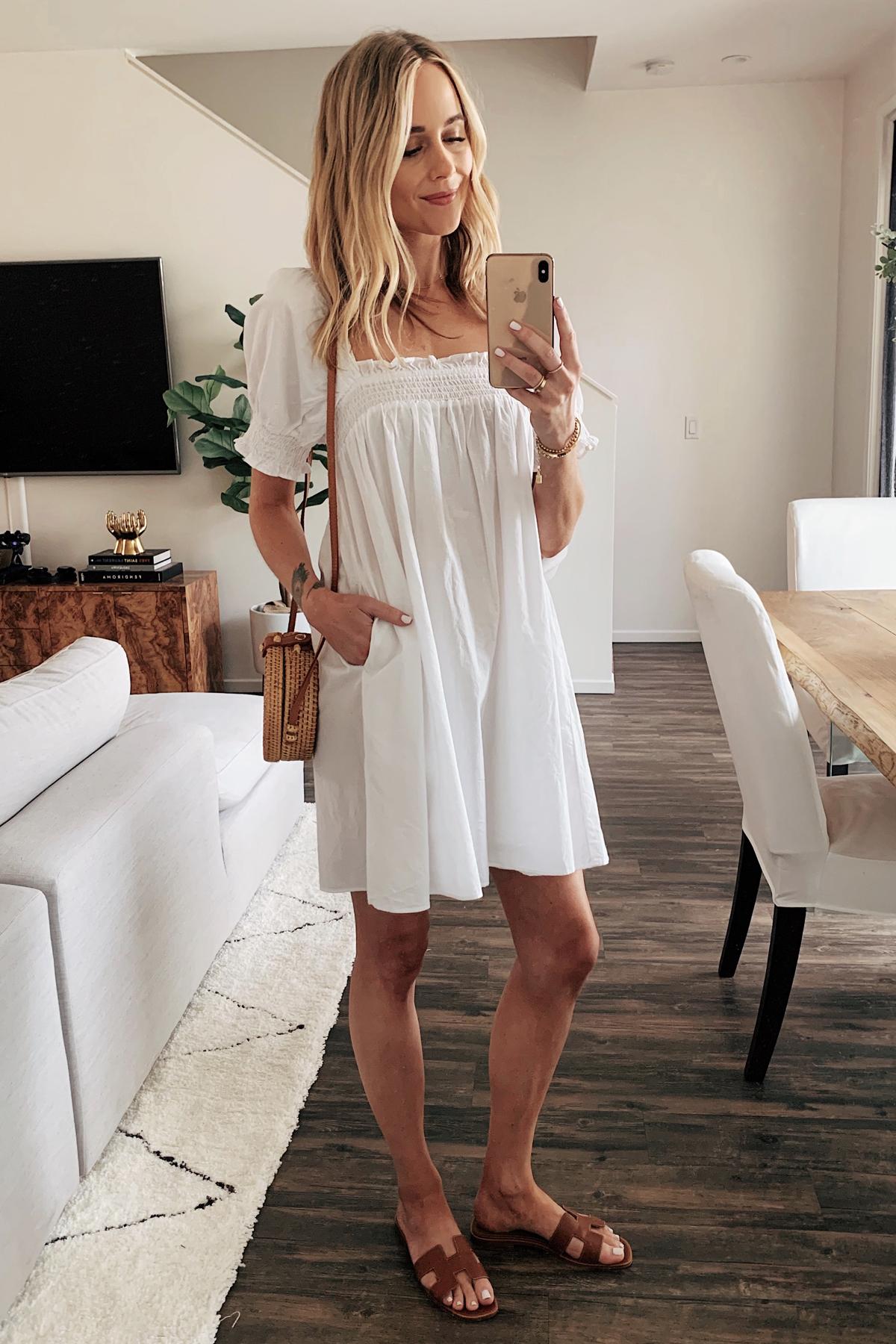 Fashion Jackson Wearing White Summer Dress