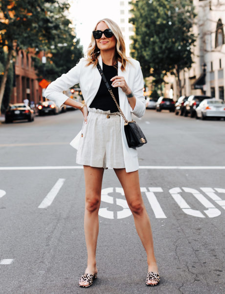 A Stylish Way to Wear a Blazer in the Summer