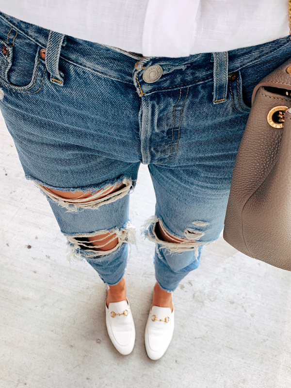 Levis Ripped Jeans