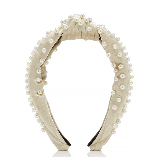 knotted pearl headband