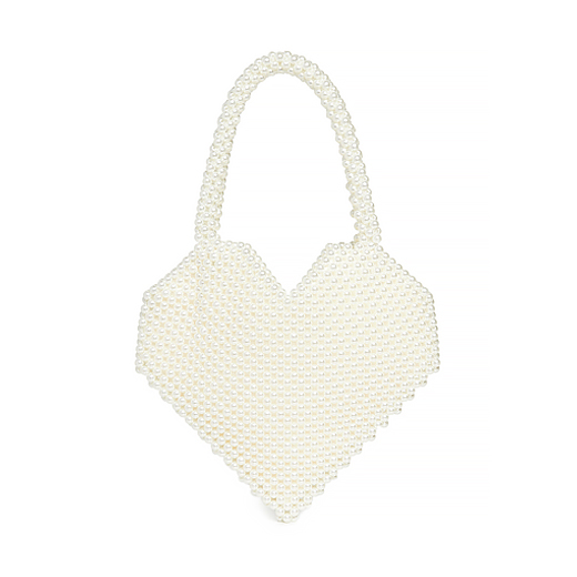 pearl heart handbag