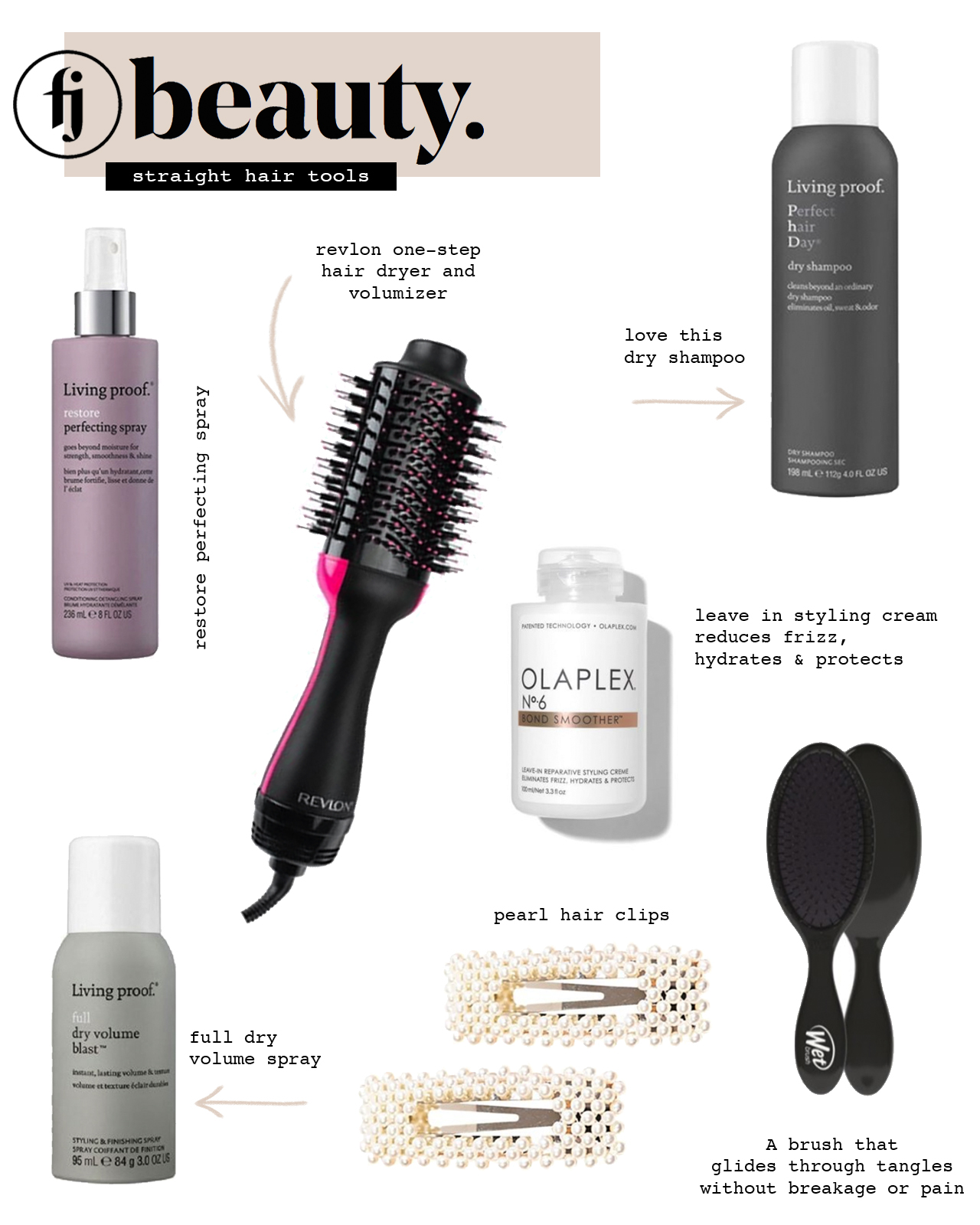 straight hair beauty products