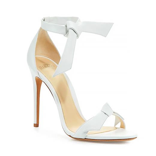 white tie sandals