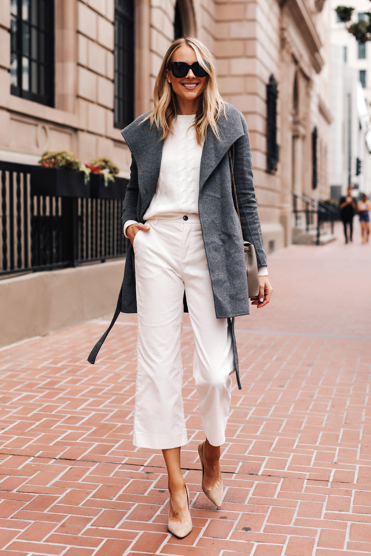 Winter White Corduroy Pants Styled for