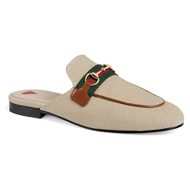 gucci canvas princetown mules