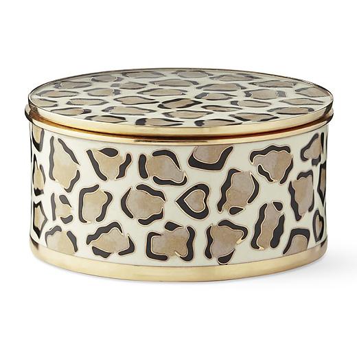 leopard round box