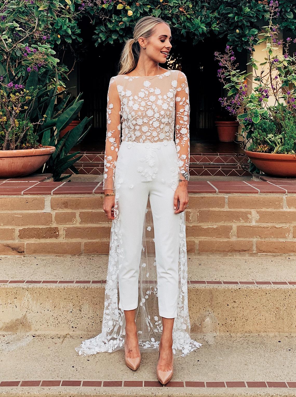 Fashion Jackson Wearing Rime Arodaky Patsy Lace Jumpsuit