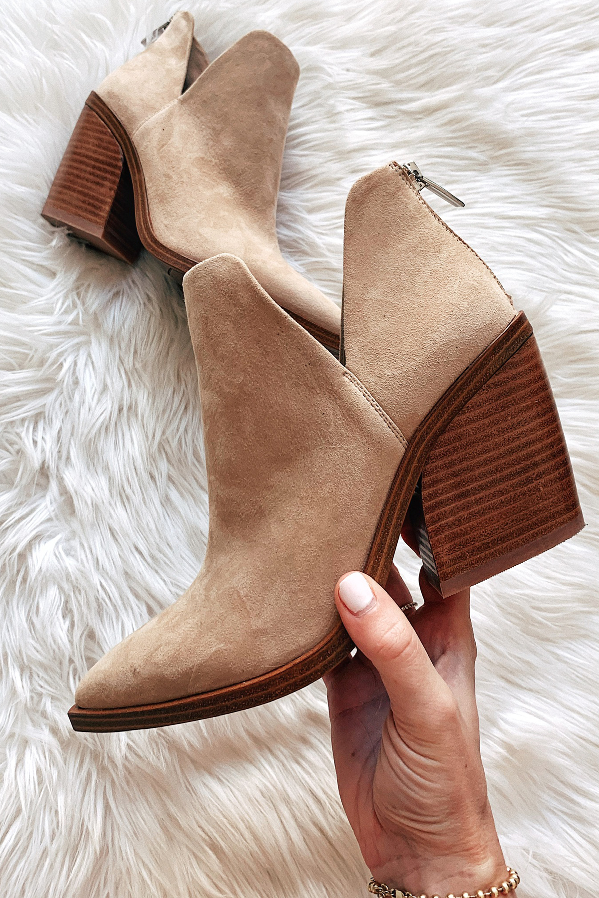Vince Camuto Tan Ankle Bootie