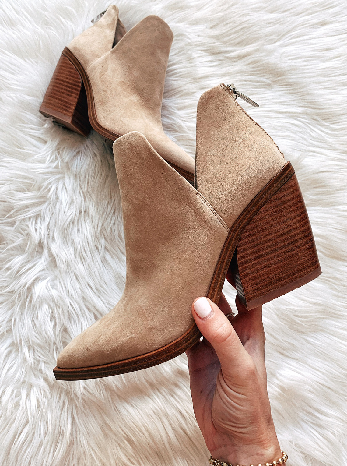 Vince Camuto Tan Suede Booties