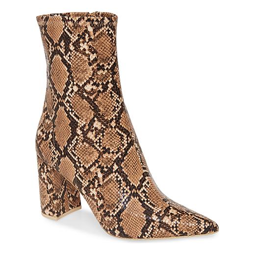 snakeskin booties 1