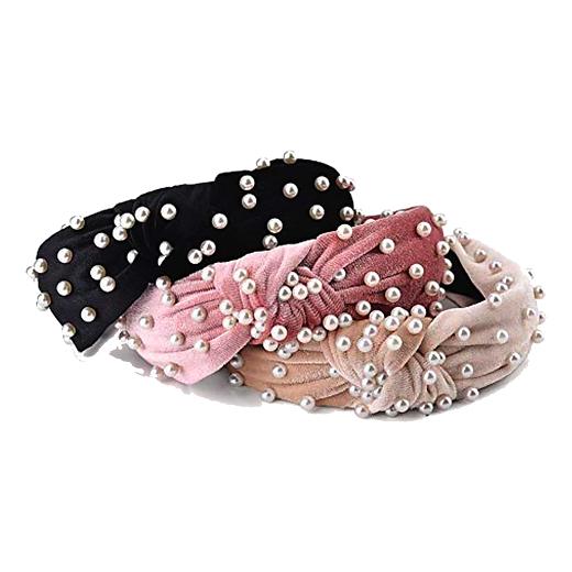 velvet pearl headbands