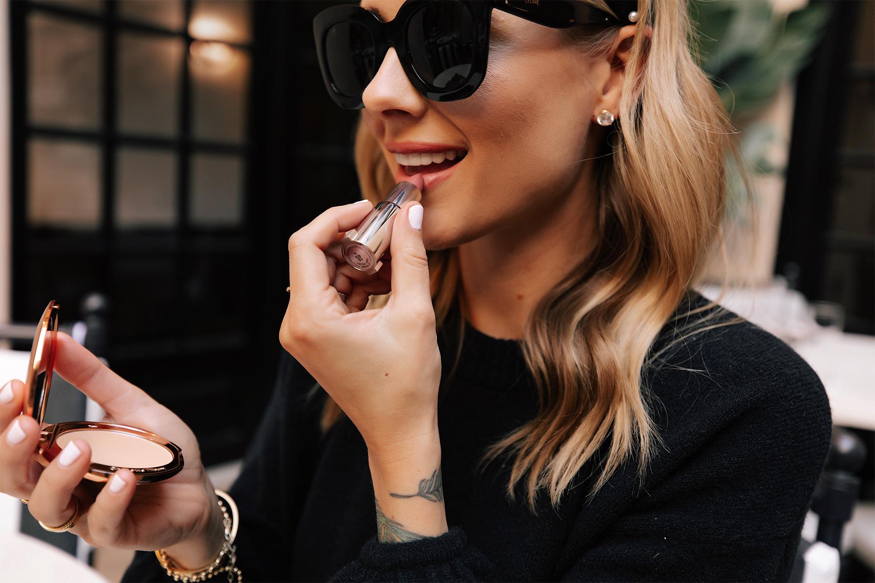 Fashion Jackson Applying Givenchy Le Rouge Lipstick