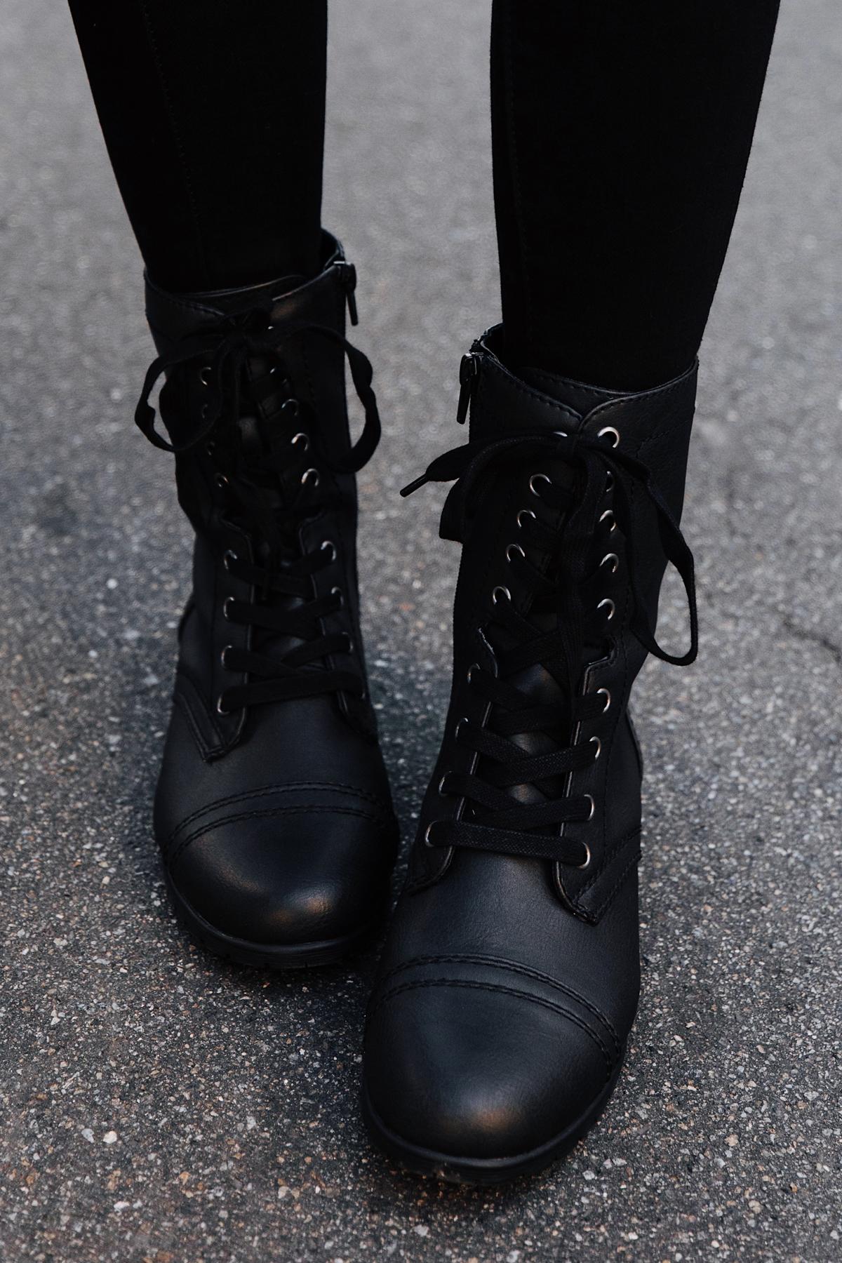 Fashion Jackson Wearing Walmart Combat Boots