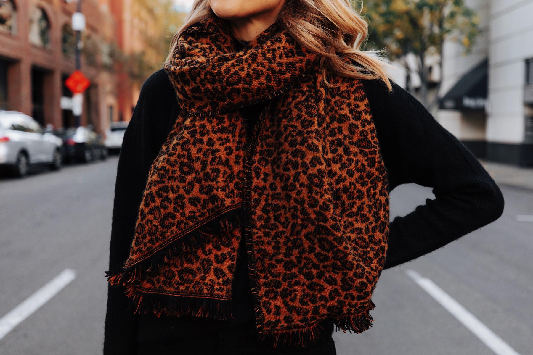 Fashion Jackson Wearing Walmart Leopard Blanket Scarf Winter Accessories