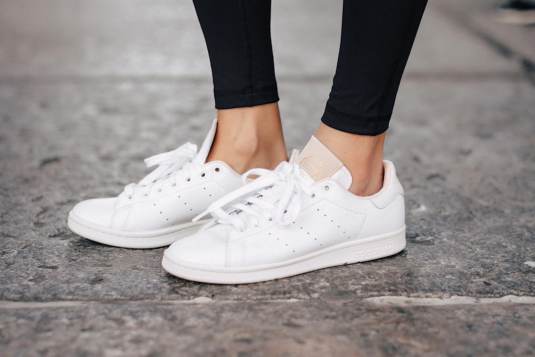 Fashion Jackson Wearing adidas Stan Smith Shoes White