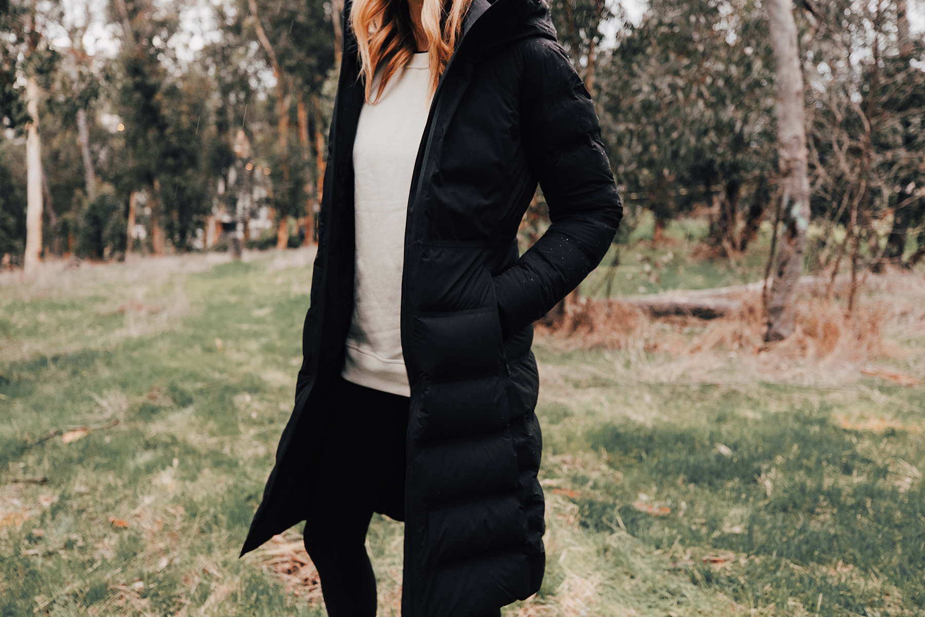 Fashion Jackson Wearing lululemon Black Sleet Street Long Jacket