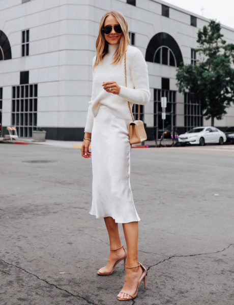 Winter White Outfit Idea For a Casual Holiday Party