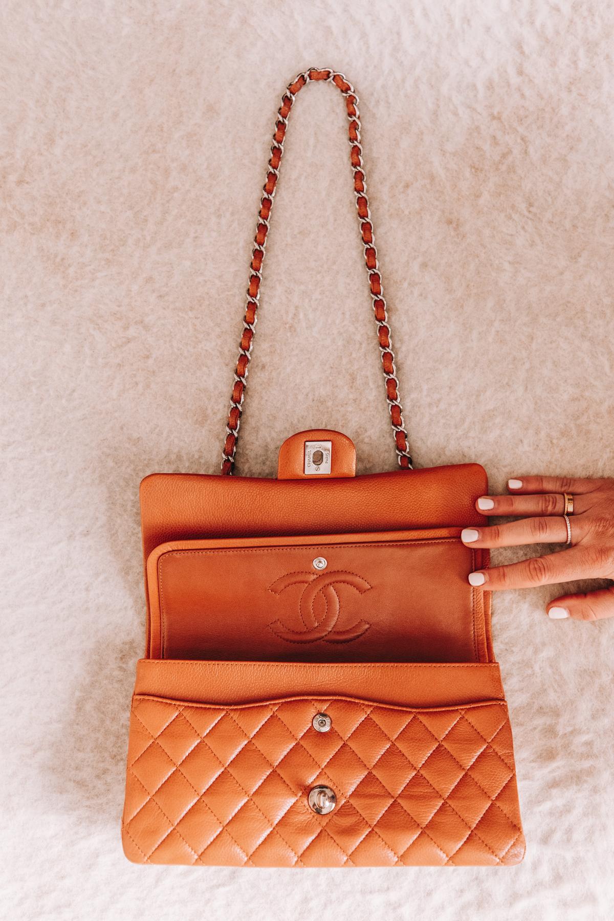 Fashion Jackson Chanel Classic Flap Medium Caramel Handbag with Silver Hardware 1