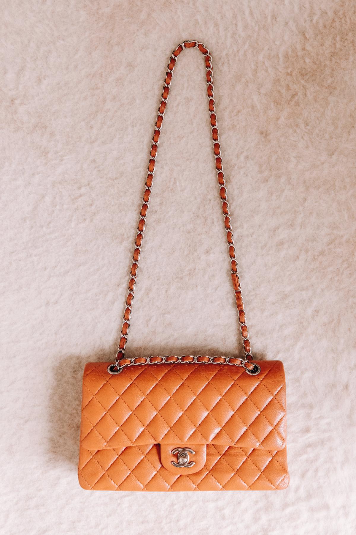 Fashion Jackson Chanel Classic Flap Medium Caramel Handbag with Silver Hardware